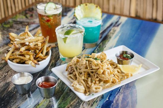 Jimmy Buffett's at the Beachcomber : Happy Hour appetizers, boat drinks, and margaritas. Available everyday 2:00-6:00 & 9:00-11:00