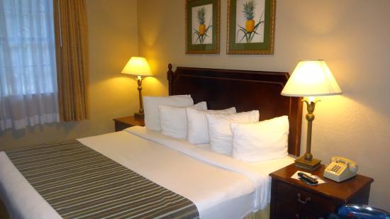 Runway Inn: Quarto com cama de casal