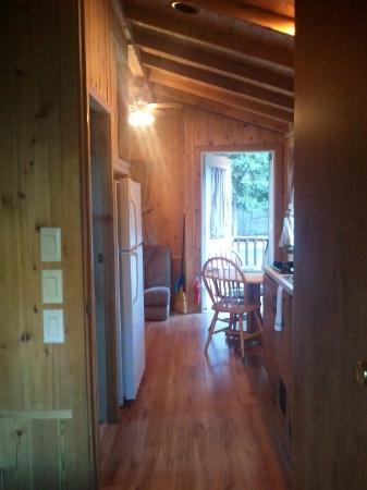 Hallway view from bedroom door to front door of cabin - Picture of ...