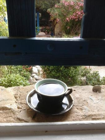 La Bastide Bleue: First Cup of Coffee on the Courtyard Window Sill