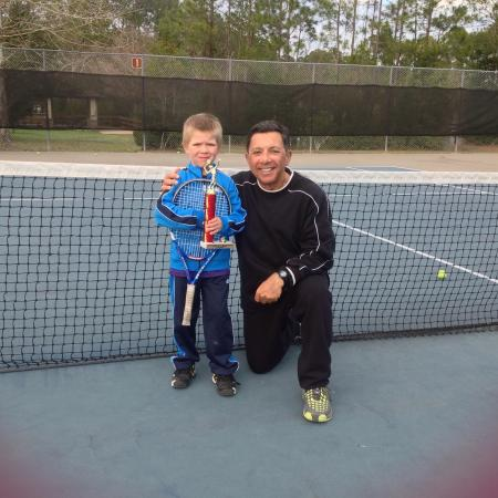 St Augustine Tennis at Treaty Park: 10 and Under Champion @ 6 yrs old!