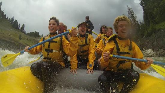"""Mad River Boat Trips : Whitewater rafting through the newest rapid """"Double Draw"""" on the Snake River"""