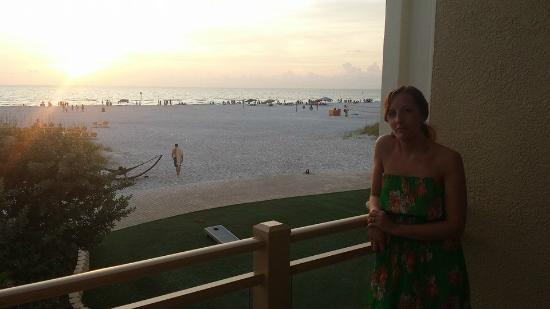 Caretta on the Gulf: Sunset during dinner