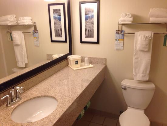 Quality Inn & Suites University: Bathroom.