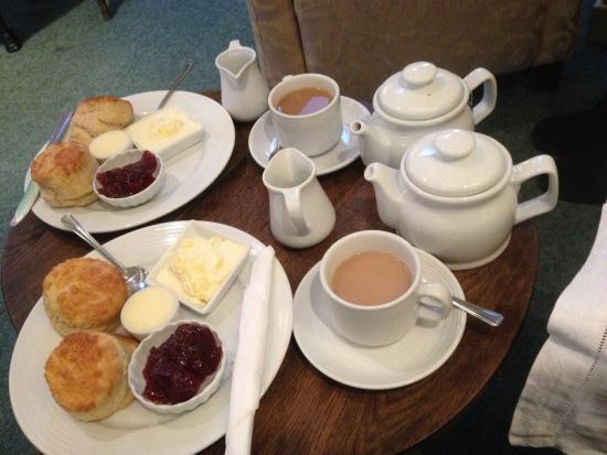 Apple Tree Tea Rooms: Our amazing tasting scone and tea :)
