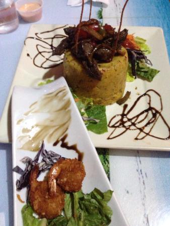 La Ola Restaurant: Coconut Shrimp, and Skirt Steak Mufongo
