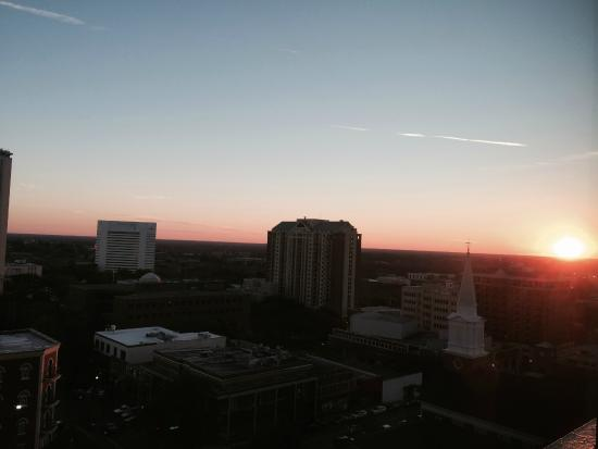 Doubletree Hotel Tallahassee: View from our room as the sun sets over the State Capitol