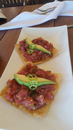 Raw Tuna Tostados, Don Pedro's Restaurant & Bar  |  Calle Marlin #2, Sayulita, Mexico