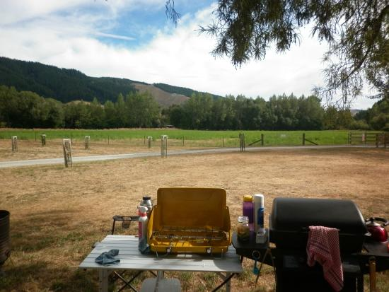 Quinney's Bush Camp: I had to tolerate this view from my Kitchen ... wasnt hard to do :)