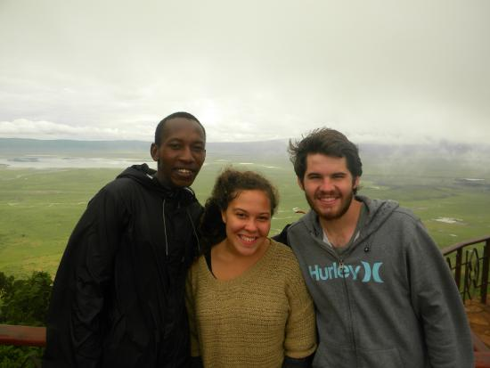 Ernest Magic Tours & Safaris: Ernest and his happy clients in Ngorongoro