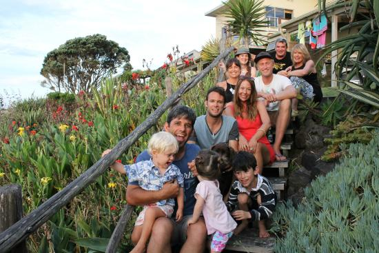 Ahipara Beachfront Accommodation : Garden Steps that lead to beach from Apartment