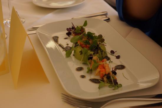 Hotel - Restaurant Villa im Park: Erbsenmousse mit Flusskrebsen - ein Traum!