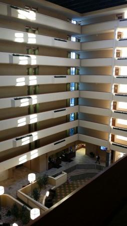 University Plaza Hotel and Convention Center : Rooms all around the open atrium