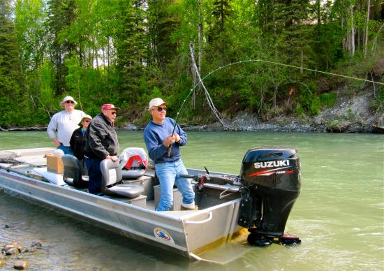 Fishtale river guides alaska salmon fishing minute for 10 hp outboard jet motor