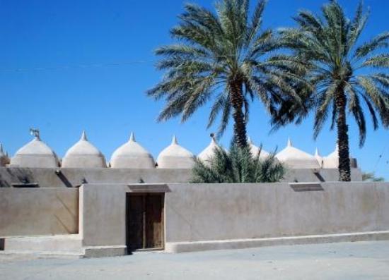 Ibra, Oman: Moskén sedd från parkeringen