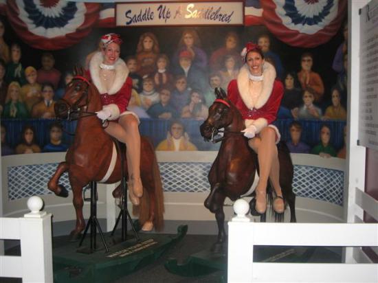 The American Saddlebred Museum : The Rockettes ride Saddlebred Rocking Horses