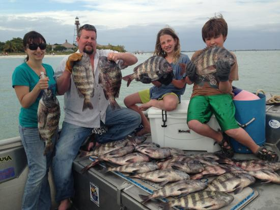 60476478bb3 LIGHTHOUSE FISHING! SHEEPSHEAD AT IT S BEST! - Picture of .