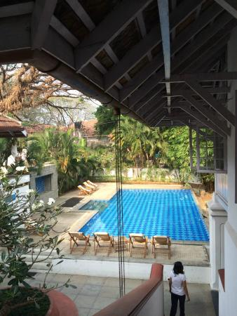 Neemrana's Tower House : The pool from the first floor.