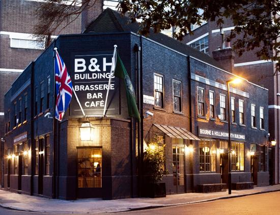 Photo of English Restaurant Bourne & Hollingsworth Buildings at 42 Northampton Road, London EC1R 0HU, United Kingdom