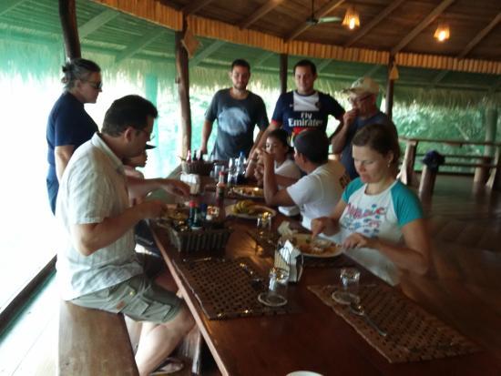 Juma Amazon Lodge: o gostoso bate-papo no restaurante