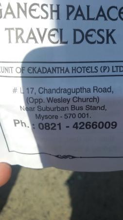 Ganesh Palace Hotel : Address