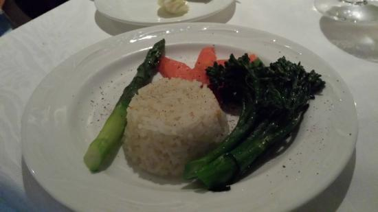 Shearn's Seafood and Prime Steaks: jasmine rice and veggies