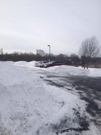 Homewood Suites Wallingford-Meriden: Snow day in Wallingford
