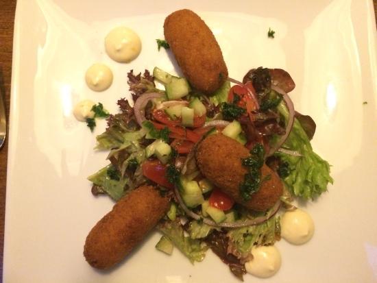 Bar Bistro De Twee Heeren: Fish croquettes with mayo and salad.  Amazing starter.