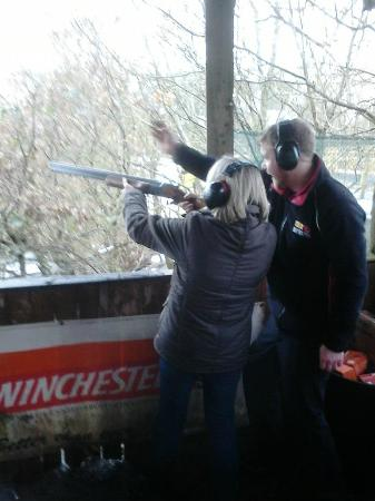 Todds Leap Activity Centre: Clay pigeon shooting