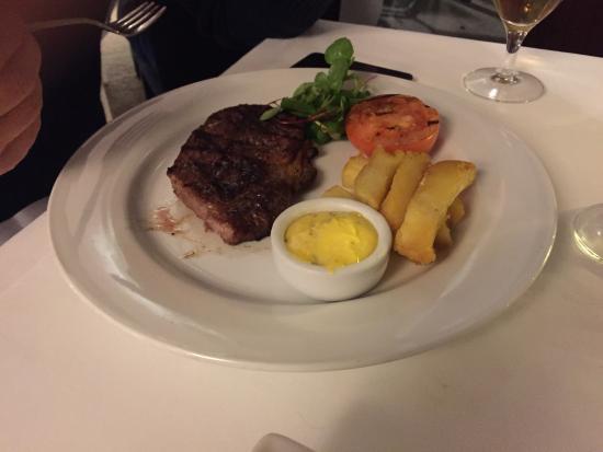 Riverside Brasserie: Stirloin steak 10z