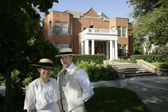 Costumed interpreters can give you a tour of this historic for Rutherford house