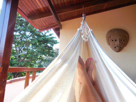 Villas Nicolas: Hammock on balcony