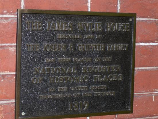 The James Wylie House: Historic Designation