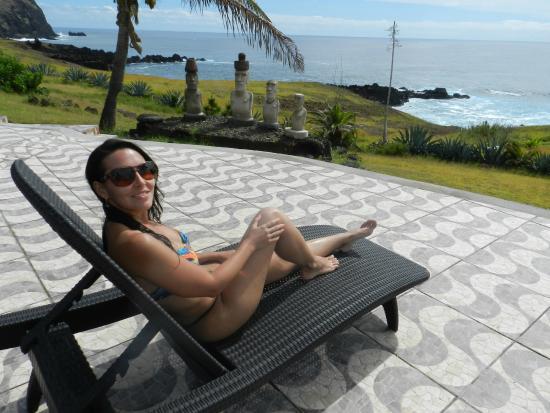 Iorana Hotel : Dá pra descansar apreciando a vista perfeita...