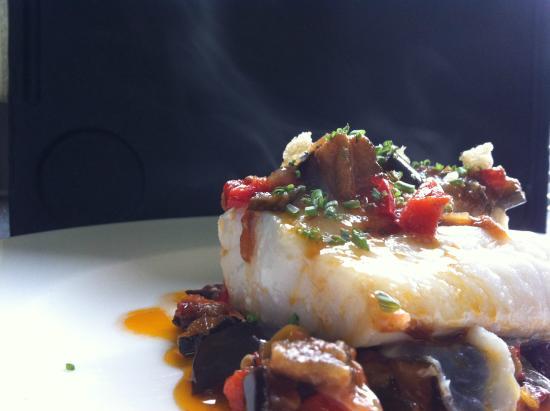 Restaurant Can Jepet: Bacallà amb sanfaina
