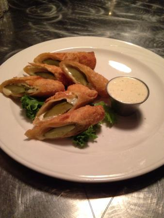 The Toasted Frog: Fried Pickles with Cheese