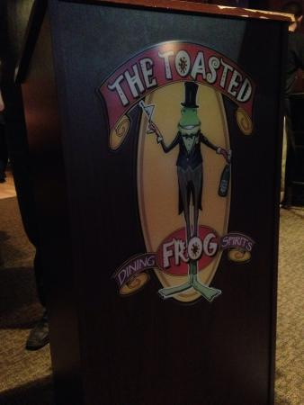 The Toasted Frog : Logo