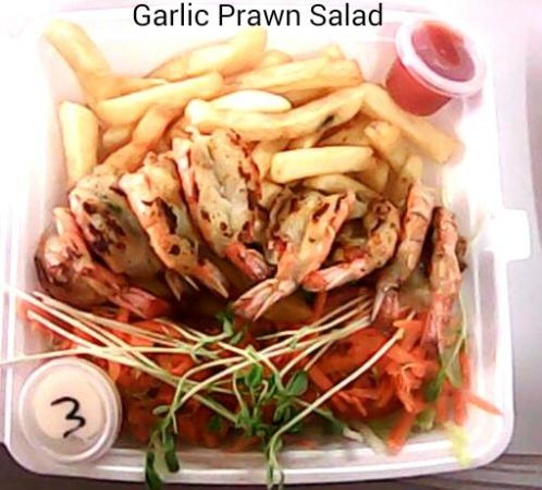 The Top Shop: Garlic Prawn Salad