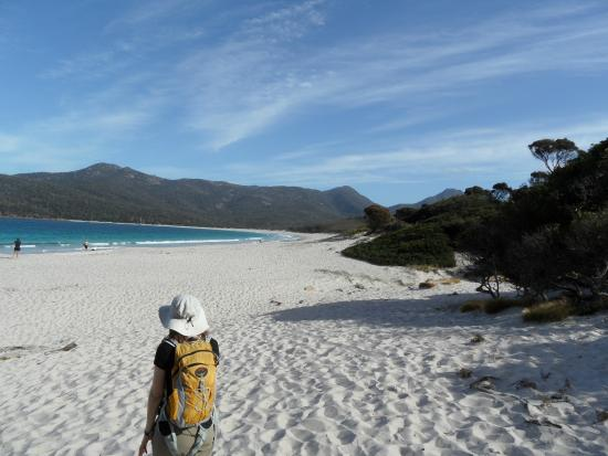Eagle Peaks at Freycinet: Wineglass Bay - now that's nice sand and sea!