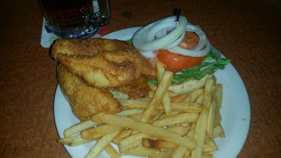 Charlotte Hall, MD: Rock fish sandwich