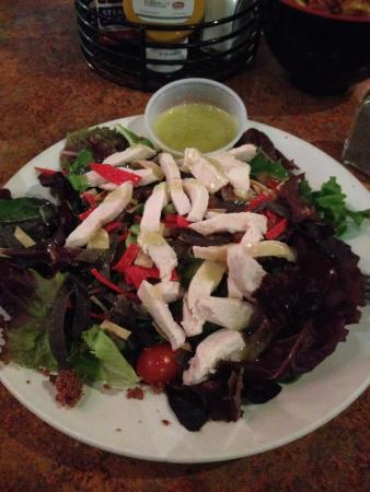 Jack's Sports Grill: Pretty bland chicken salad.  Are least grill the chicken.  Seemed booked and chilled.