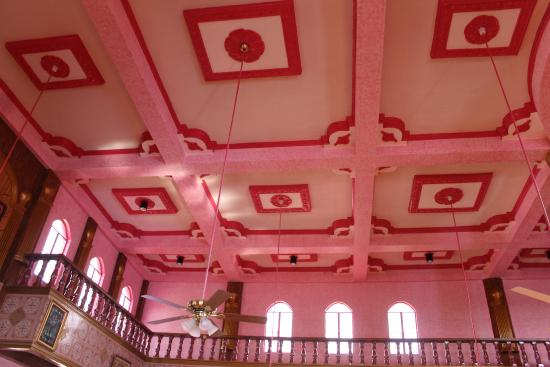 Masjid Dimaukom (Pink Mosque): ceiling