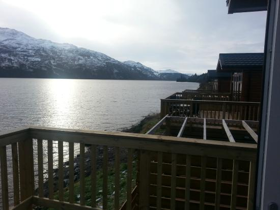 View From Balcony Hot Tub Next Door Picture Of Loch