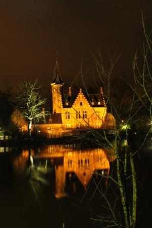 Your Bruges Tours: Stunning nighttime view at the Lake of Love
