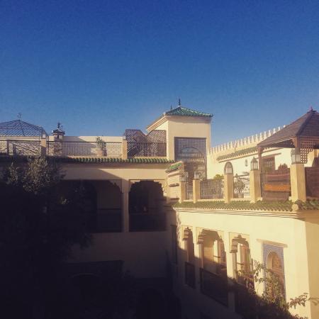 Ryad Salama Fes : La vista dal balcone della camera
