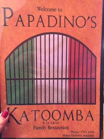 Papadino's Katoomba Pizzeria and Family Restaurant: Great menu