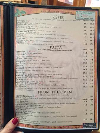 Papadino's Katoomba Pizzeria and Family Restaurant: And more choices
