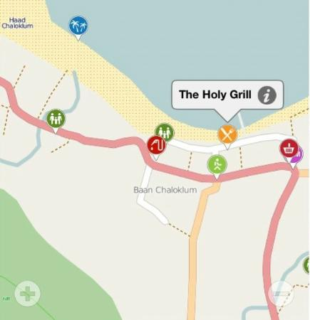 The Holy Grill : In the center of Chaloklam fishing village