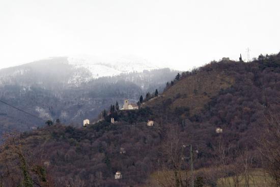 Vittorio Veneto, Italia: Vista verso Nord (Serravalle) con Santa Augusta 6febbraio2015.