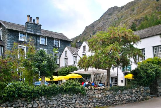 The Old Dungeon Ghyll Hotel: View from the car park